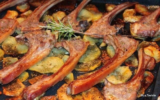 Imagen de la receta de Bandeja de costillas de cordero